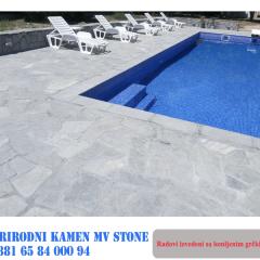 Kamen oko bazena
