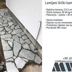Lomljeni kamen za staze