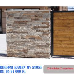 Ograda uradjena od kamena Travertin 5 cm